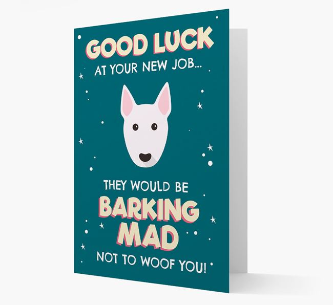 'Good Luck at your New Job!' Card with Bull Terrier Icon