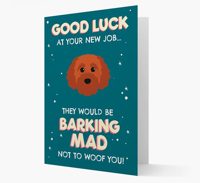 'Good Luck at your New Job!' Card with Cavapoochon Icon