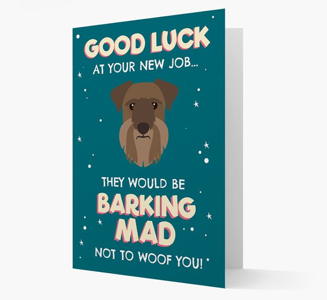 'Good Luck at your New Job!' Card with Cesky Terrier Icon