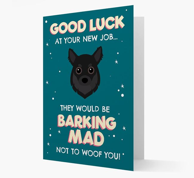 'Good Luck at your New Job!' Card with Chihuahua Icon