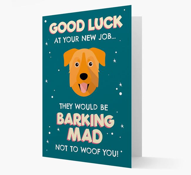 'Good Luck at your New Job!' Card with Chinook Icon