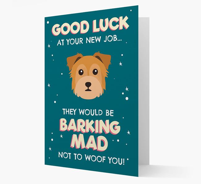'Good Luck at your New Job!' Card with Chorkie Icon