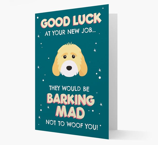 'Good Luck at your New Job!' Card with Cockapoo Icon