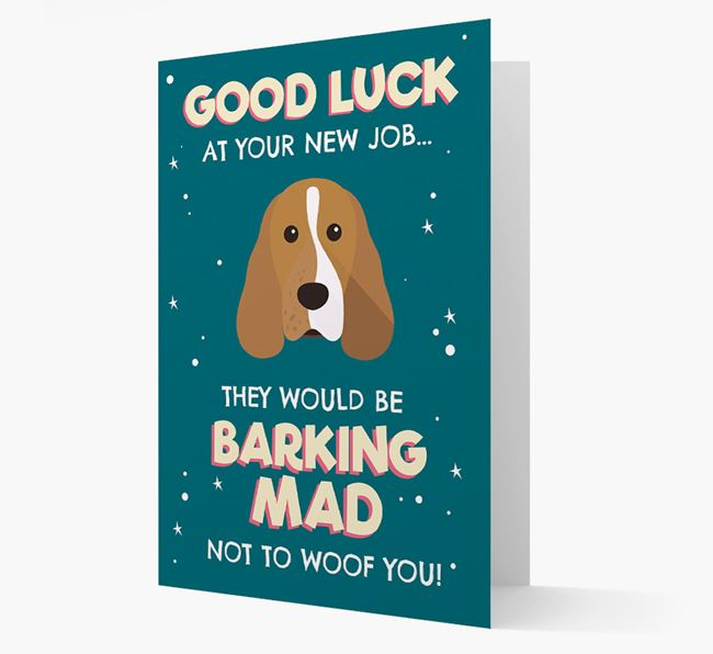 'Good Luck at your New Job!' Card with Cocker Spaniel Icon
