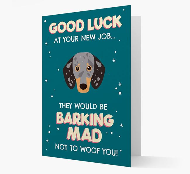 'Good Luck at your New Job!' Card with Dachshund Icon