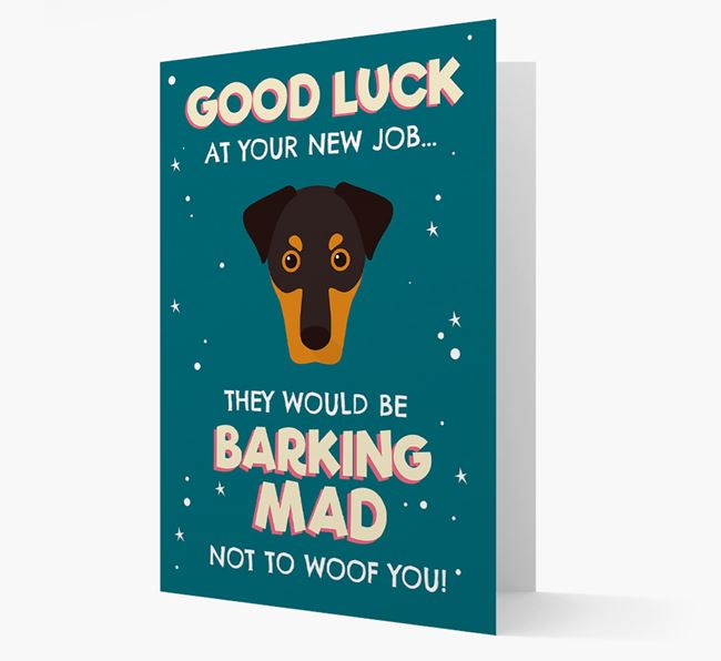 'Good Luck at your New Job!' Card with Dobermann Icon