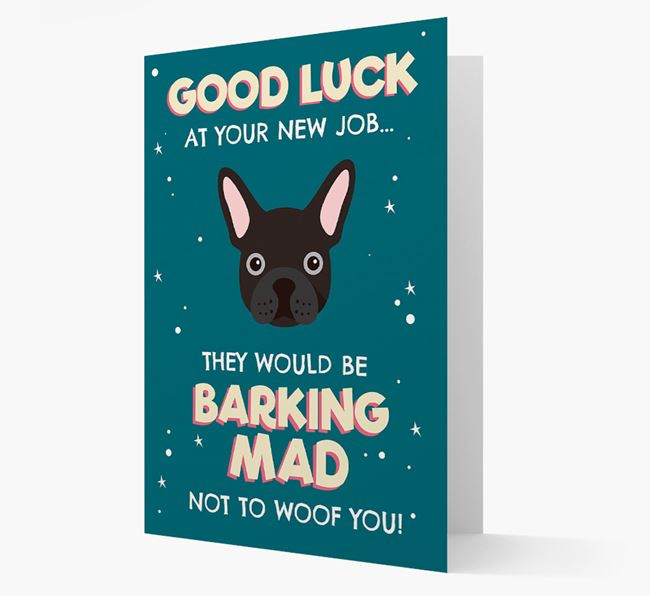 'Good Luck at your New Job!' Card with French Bulldog Icon