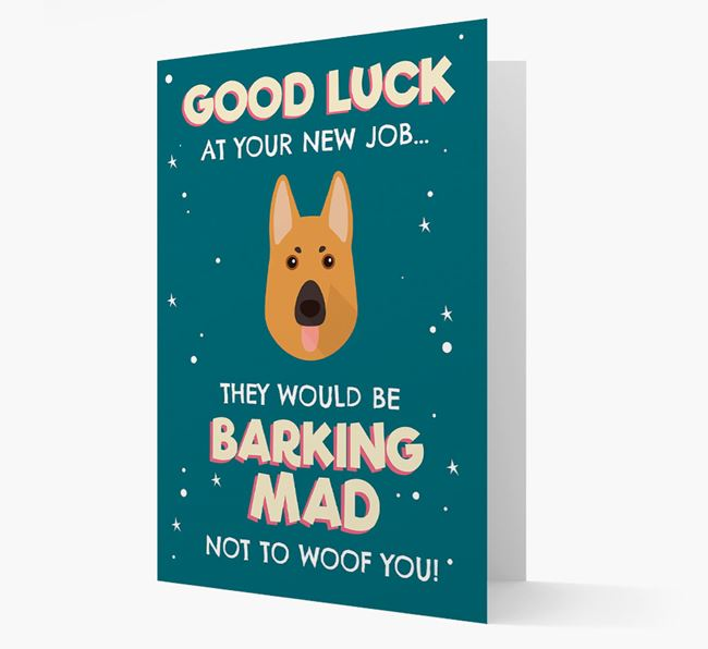 'Good Luck at your New Job!' Card with German Shepherd Icon