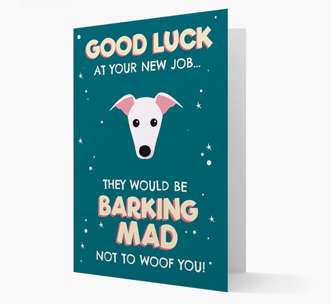 'Good Luck at your New Job!' Card with Greyhound Icon