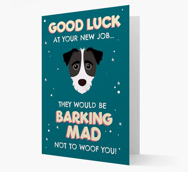 'Good Luck at your New Job!' Card with Jack-A-Poo Icon