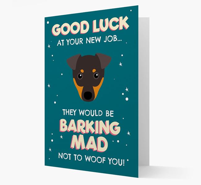 'Good Luck at your New Job!' Card with Dog Icon