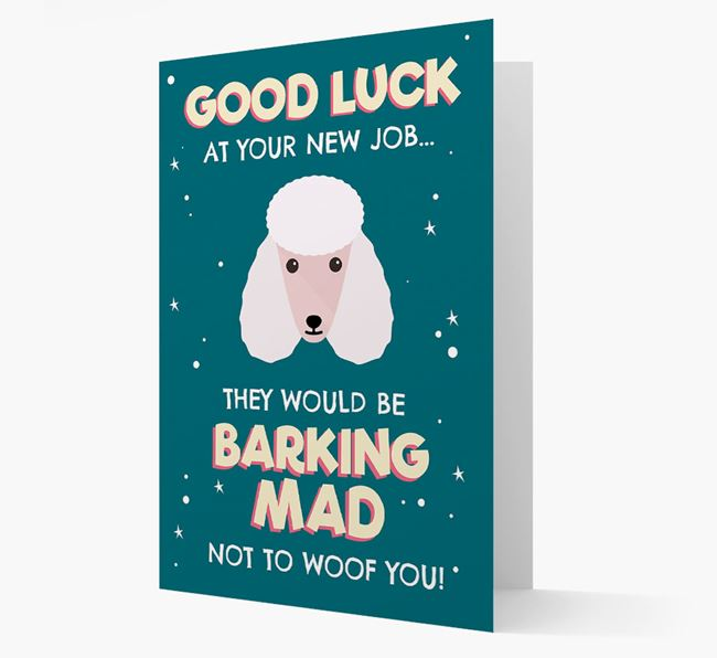 'Good Luck at your New Job!' Card with Poodle Icon