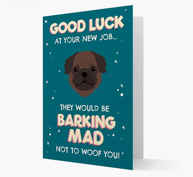 'Good Luck at your New Job!' Card with Pug Icon