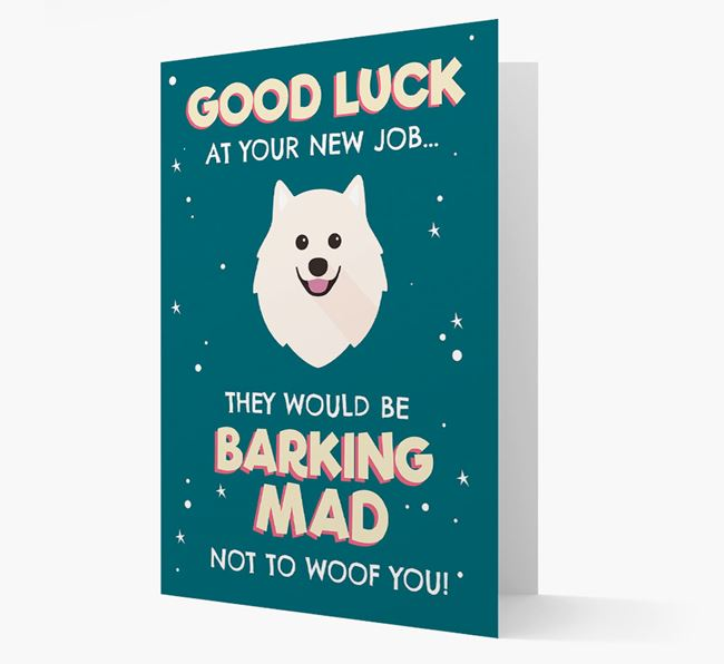 'Good Luck at your New Job!' Card with Samoyed Icon
