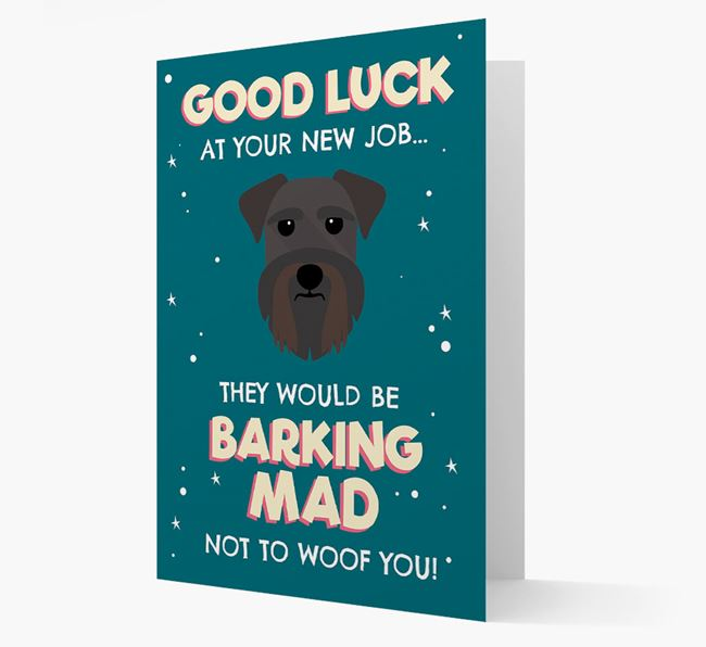 'Good Luck at your New Job!' Card with Schnauzer Icon
