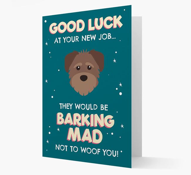 'Good Luck at your New Job!' Card with Schnoodle Icon