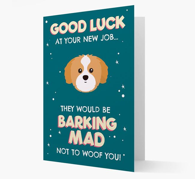 'Good Luck at your New Job!' Card with Shih Tzu Icon