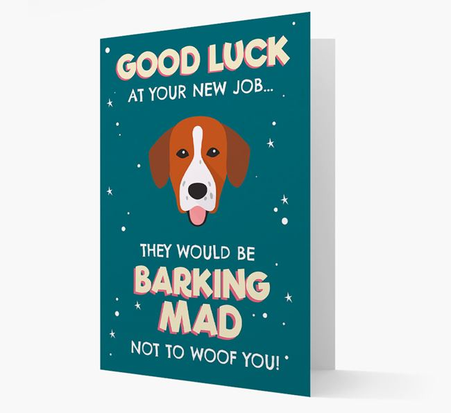 'Good Luck at your New Job!' Card with Springador Icon