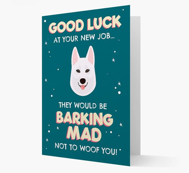 'Good Luck at your New Job!' Card with Tamaskan Icon