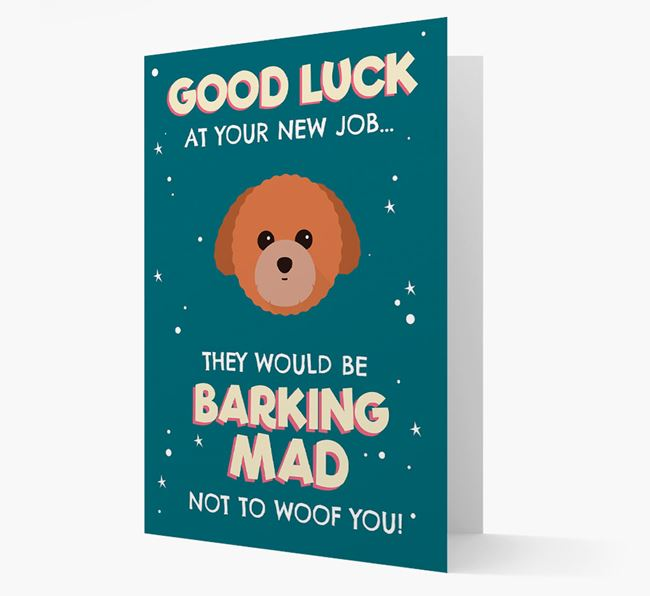 'Good Luck at your New Job!' Card with Toy Poodle Icon