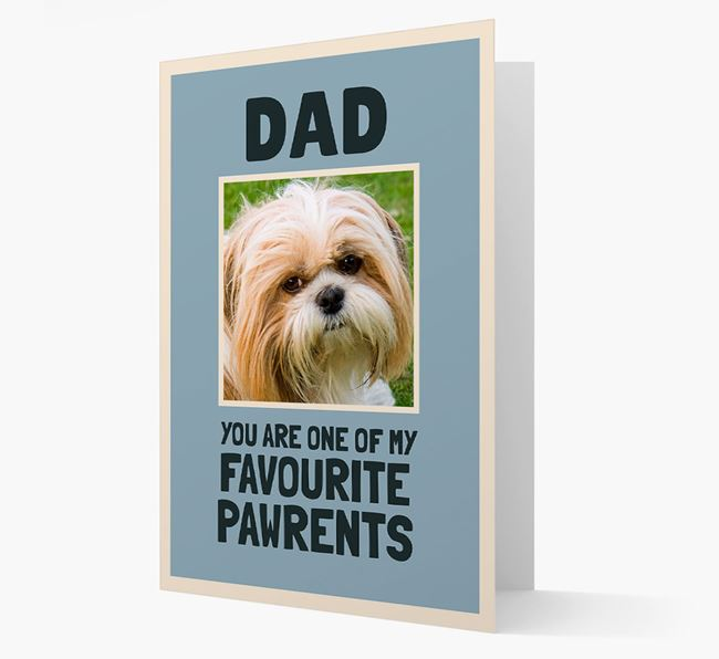 'Favourite Pawrents' Card with photo of your Shih Tzu