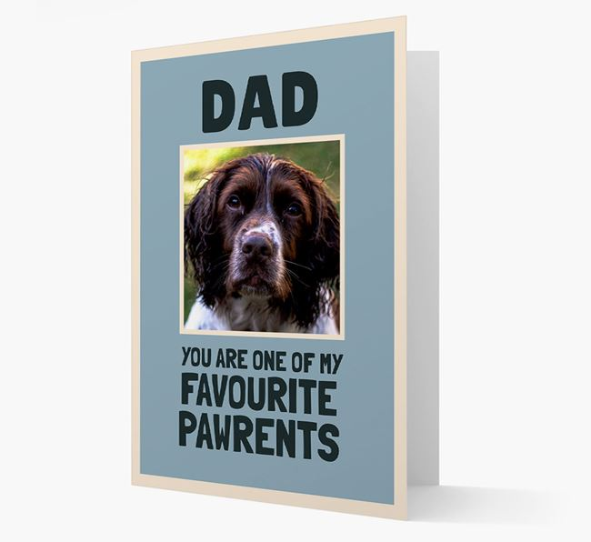 'Favourite Pawrents' Card with photo of your Springer Spaniel