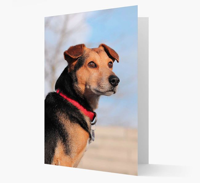 Plain Photo Upload Greeting Card