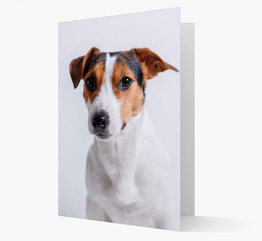 Greeting Card with photo of your Dog