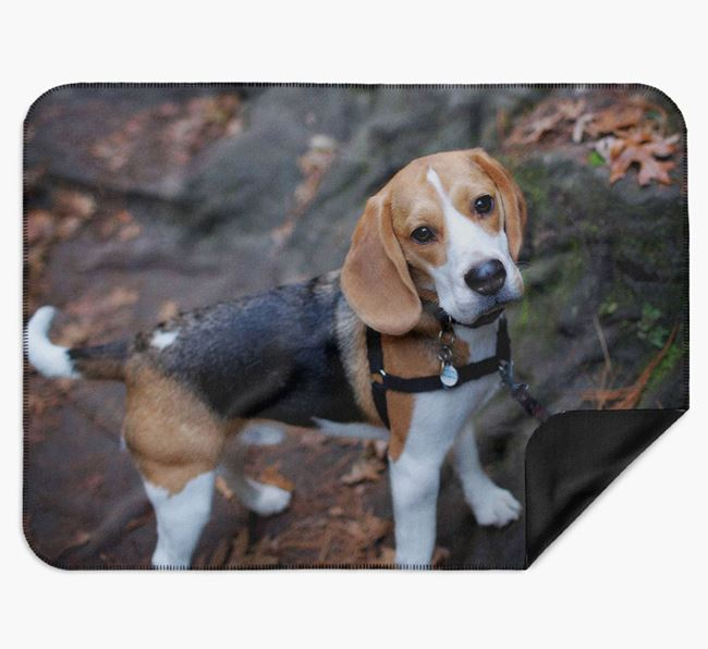 Blanket with photo of your Beagle