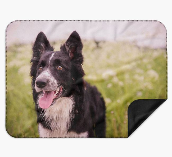 Blanket with photo of your Border Collie