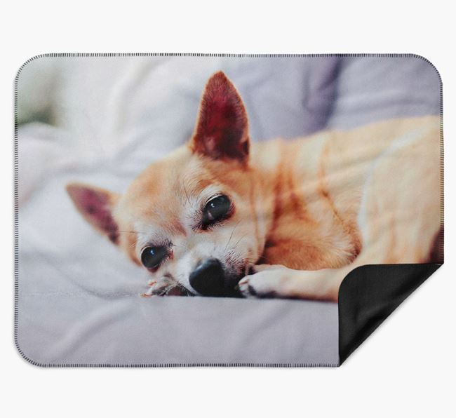Blanket with photo of your Chihuahua