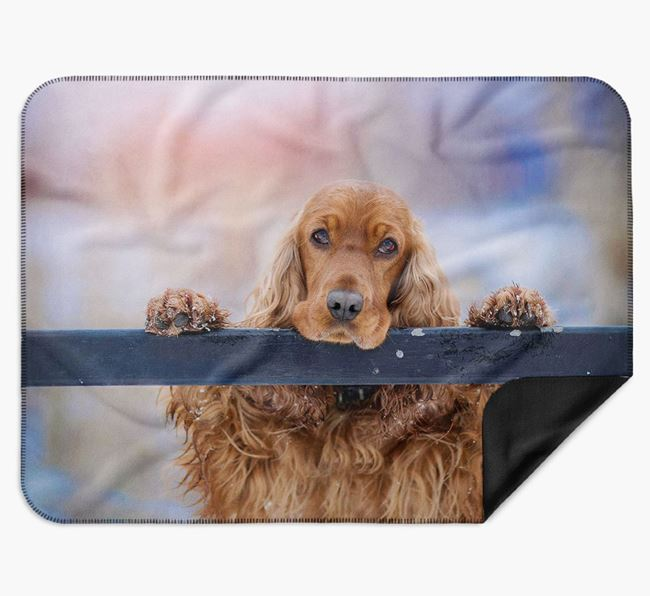 Blanket with photo of your Cocker Spaniel