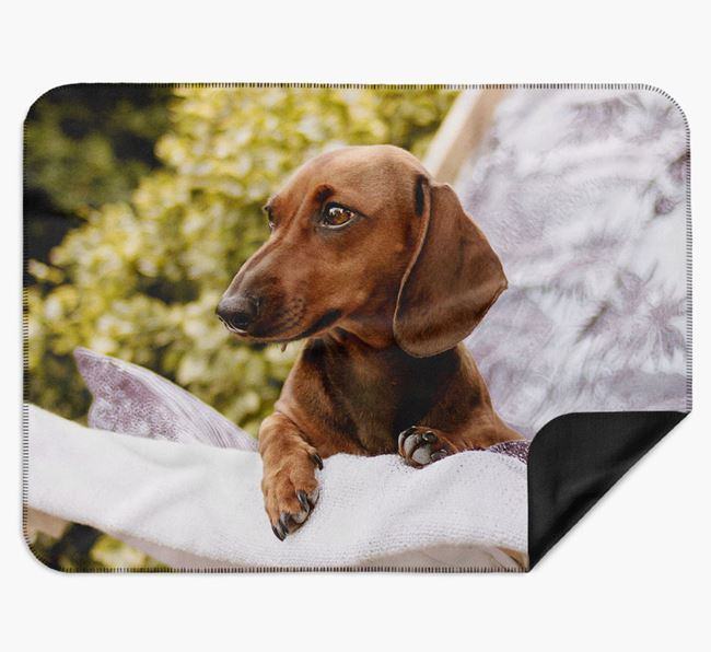 Blanket with photo of your Dachshund