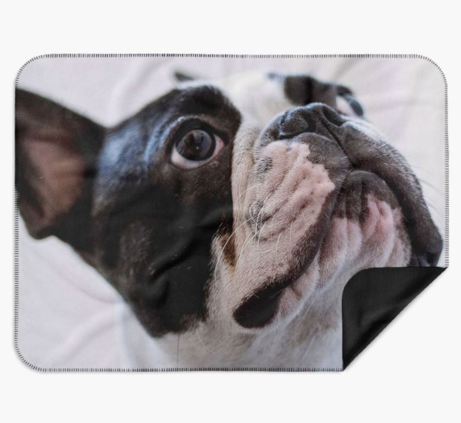 Blanket with photo of your French Bulldog