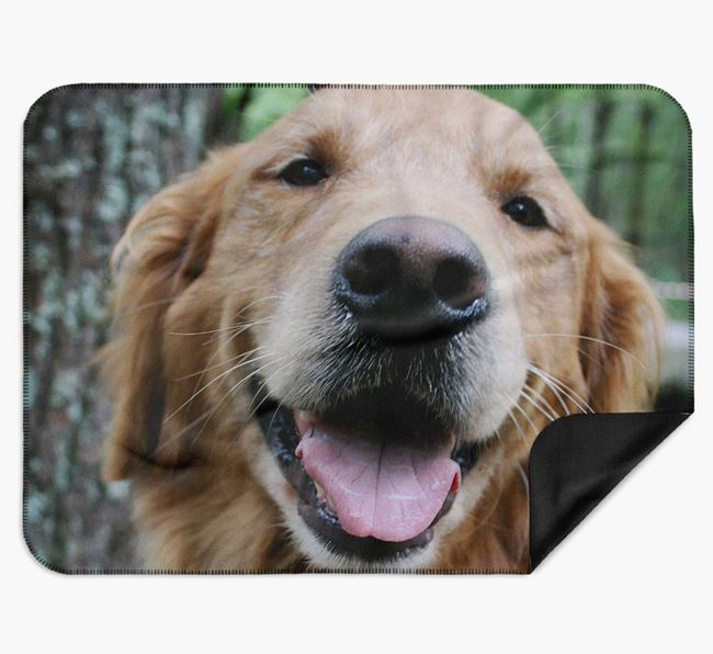 Blanket with photo of your Golden Retriever
