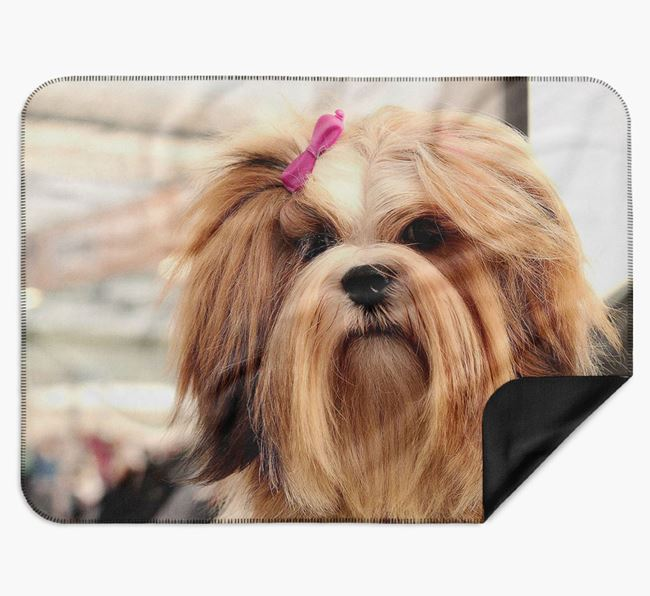 Blanket with photo of your Lhasa Apso