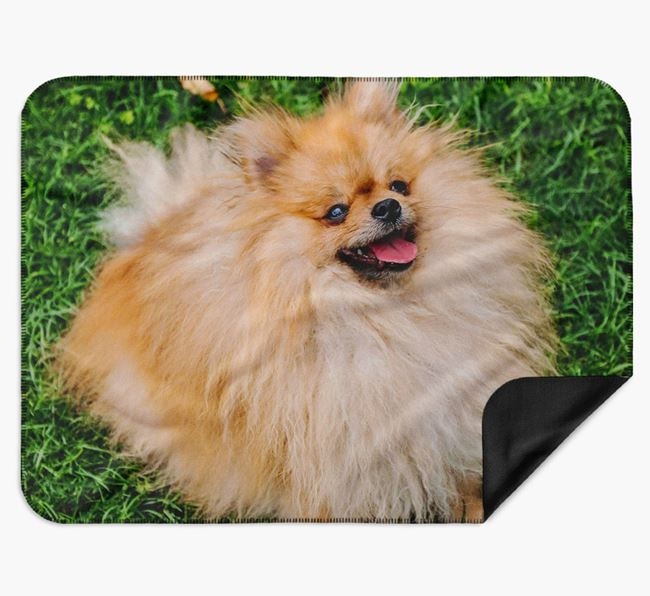 Blanket with photo of your Pomeranian