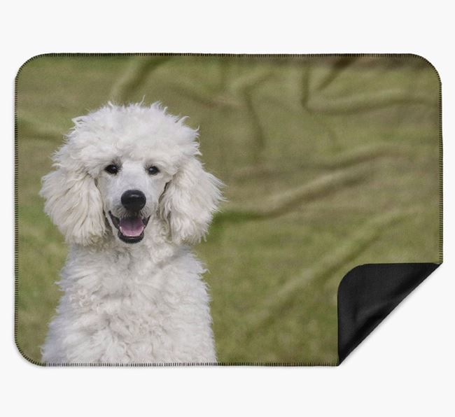 Blanket with photo of your Poodle