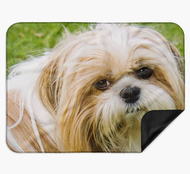 Blanket with photo of your Shih Tzu