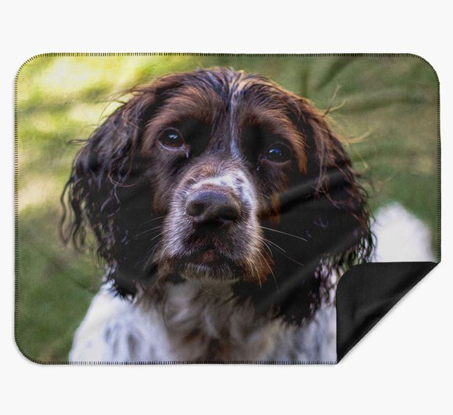 Blanket with photo of your Springer Spaniel