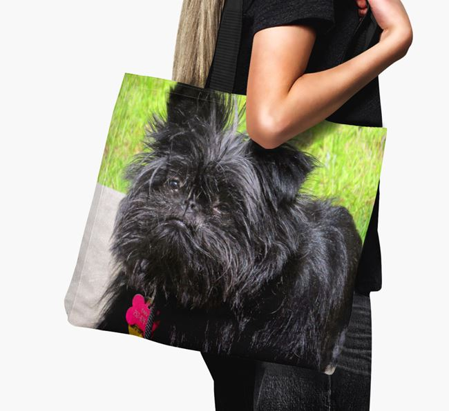 Canvas Bag with photo of your Affenpinscher
