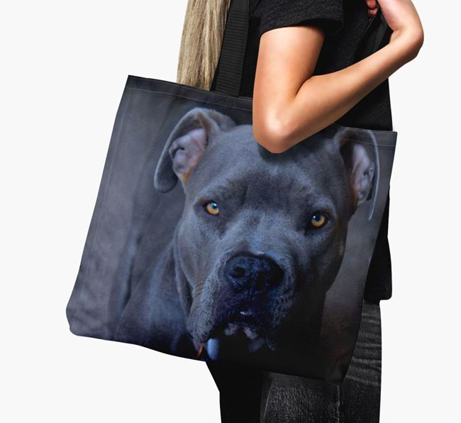 Canvas Bag with photo of your American Pit Bull Terrier