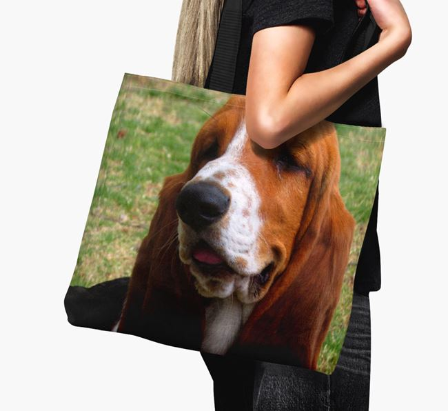 Canvas Bag with photo of your Basset Hound
