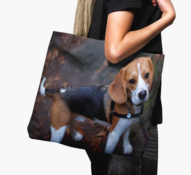 Canvas Bag with photo of your Beagle
