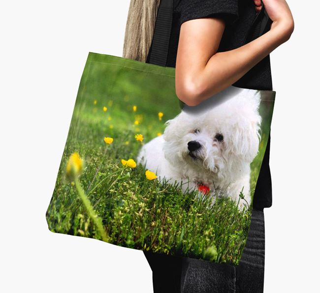 Canvas Bag with photo of your Bichon Frise