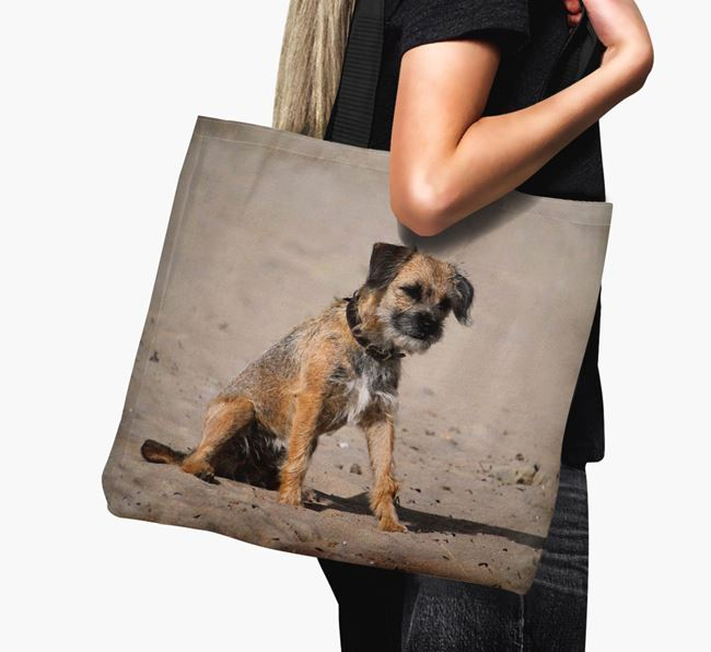 Canvas Bag with photo of your Border Terrier