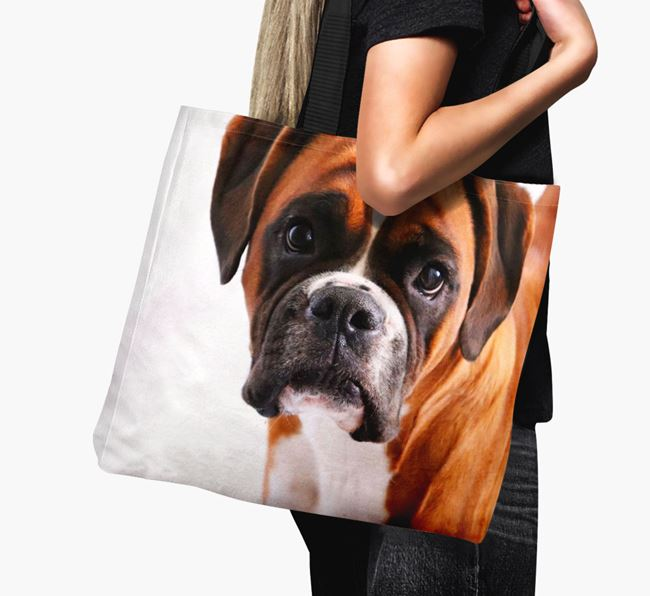 Canvas Bag with photo of your Boxer