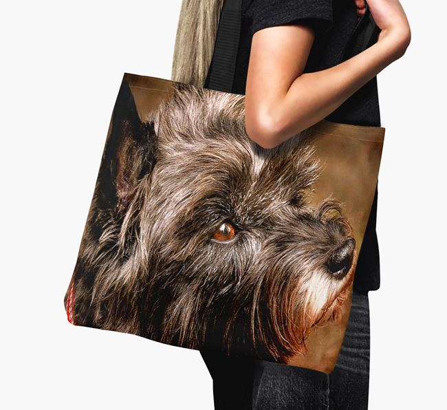 Canvas Bag with photo of your Cairn Terrier