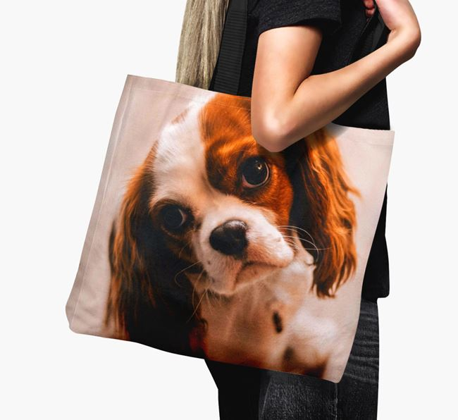 Canvas Bag with photo of your Cavalier King Charles Spaniel