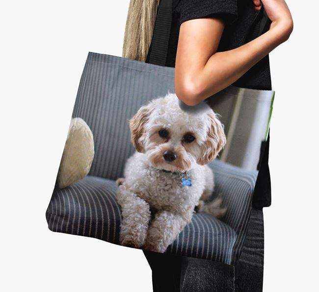 Canvas Bag with photo of your Cavapoo